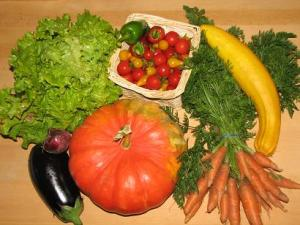 fresh vegetables bought from our local market