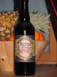 Felis beer. Brewed in Felletin. Vegan beer