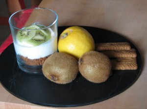 lemon cheesecake from 3placedesarbres. vegetarian B&B