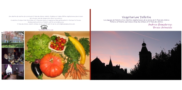 A new vegetarian cook book from a vegetarian B&B in France